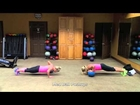 Fat Burning total body workout!  Medicine ball circuit training. Cynthia & Kiesha Mommys on the Move