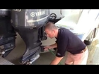 How to perform a running flush on a 4 stroke Yamaha outboard motor