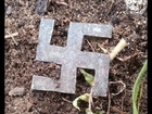 Preview - Silver Nazi Swastika Found Metal Detecting in 100 Year Old Western Australian Rubbish Dump