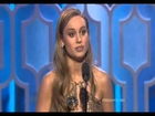 Brie Larson Wins Best Actress Motion Picture Drama Golden Globes 2016