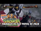 NARUTO SHIPPUDEN ULTIMATE NINJA STORM REVOLUTION - KAKASHI VS PAIN GAMEPLAY