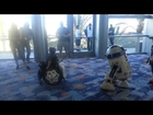 R2-D2 brightens boy's day at Star Wars Celebration