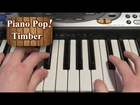 Timber Piano Lesson - Pitbull ft. Kesha - Easy Piano Tutorial