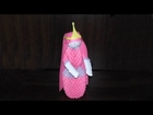 3D origami Princess Bubblegum (tutorial, instructions)