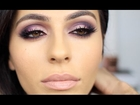 Purple + Pink Smoky Eye Makeup