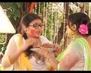 Madhubala Madhu Abhay play Holi