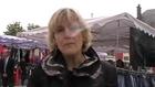 EUROPEENNES : NADINE MORANO, TETE DE LA LISTE UMP DE L'EST, EN CAMPAGNE SUR LE MARCHE DE VESOUL