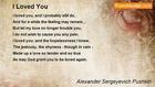 Alexander Sergeyevich Pushkin - I Loved You
