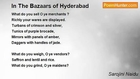 Sarojini Naidu - In The Bazaars of Hyderabad