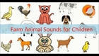 The sounds of farm animals for kids.Cartoon